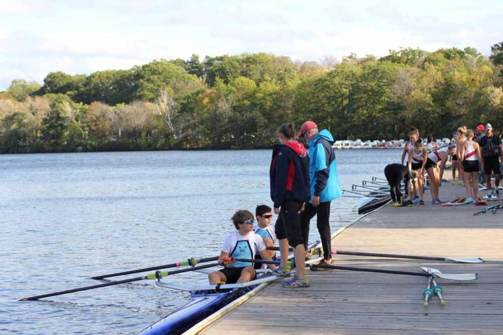 Quin Daly, 13, of Darien, became the youngest rower in the Head of the Charles Regatta doubles high school division on Oct.20.