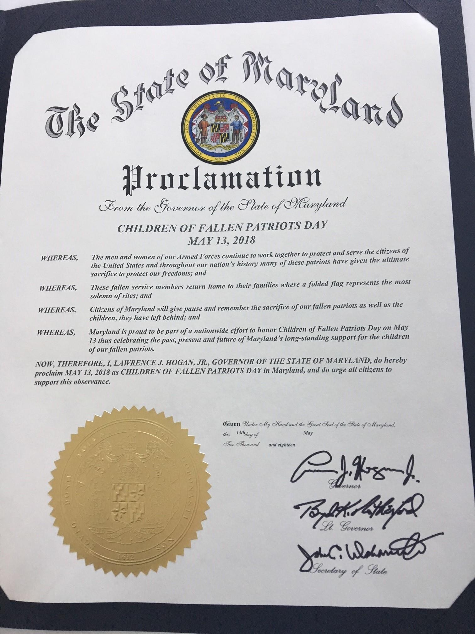 Maryland 2018 Proclamation.jpg