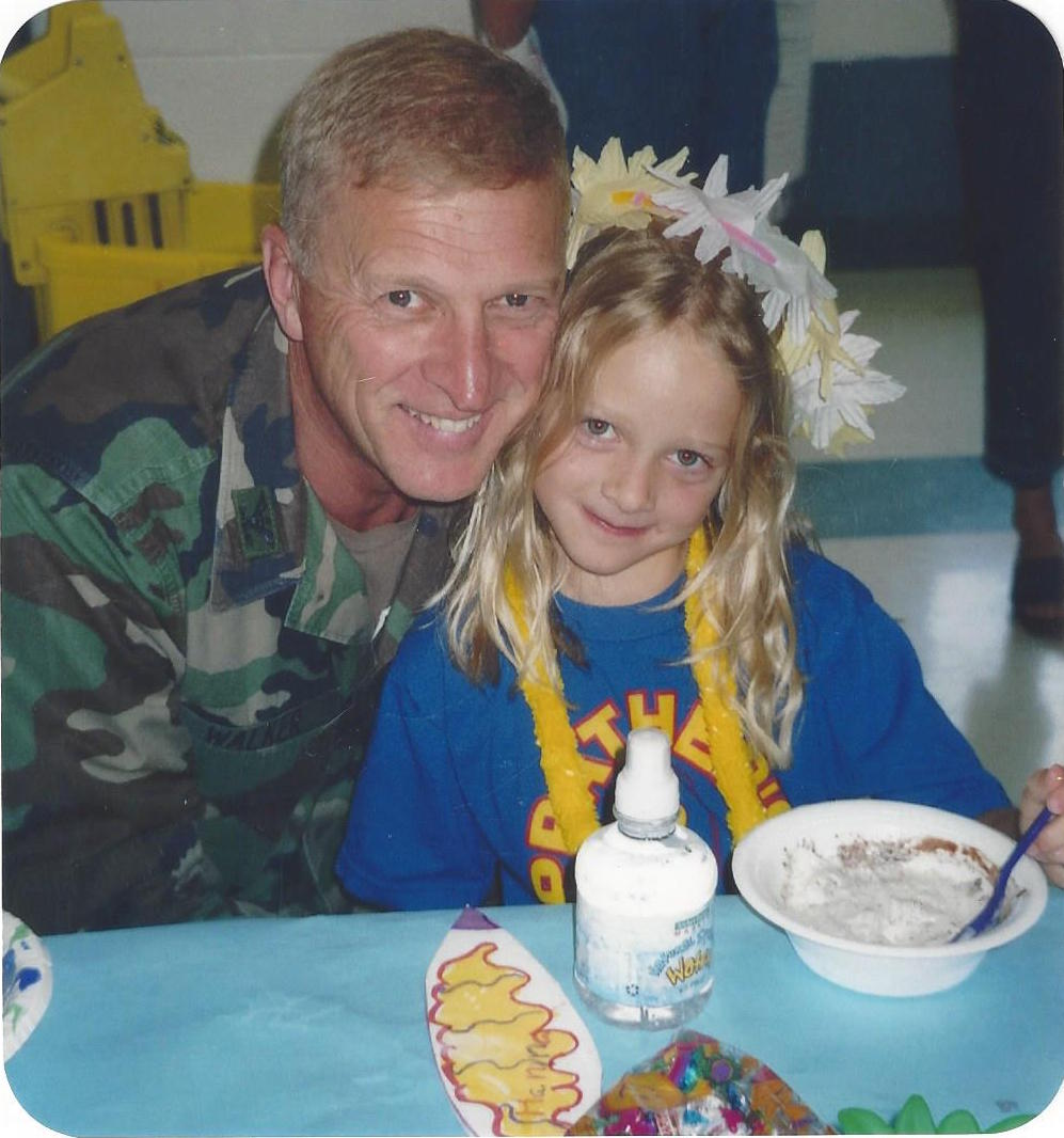 Johanna Walker, now 21, with her father Cliff Walker in an undated photo. (Children of Fallen Patriots Foundation)