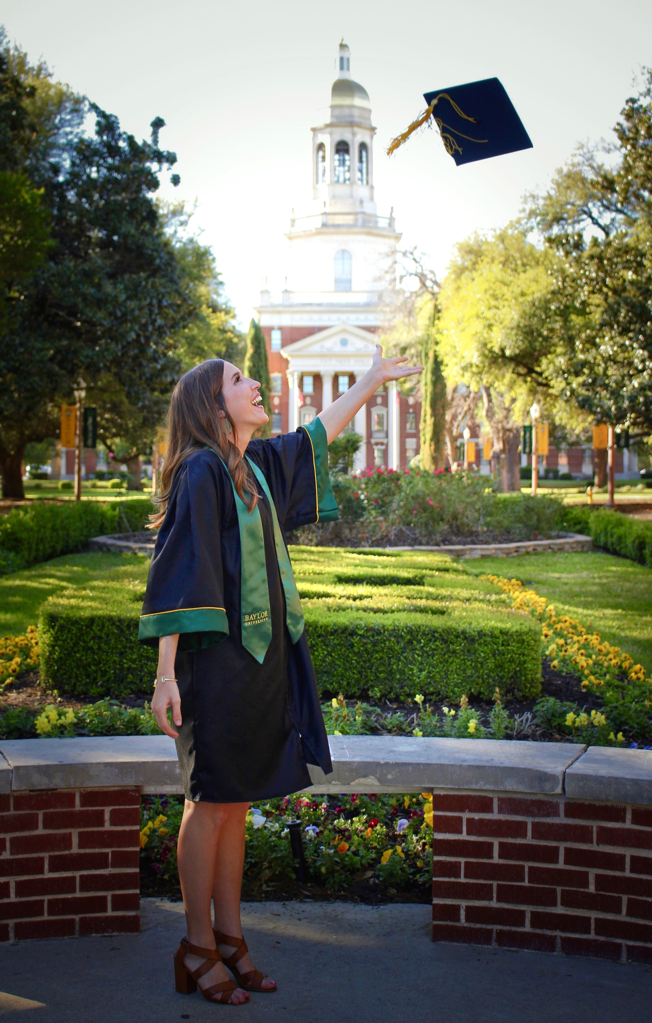 Hayley Hartwick last year at her graduation from Baylor University. (Kerri Hartwick Doughty)