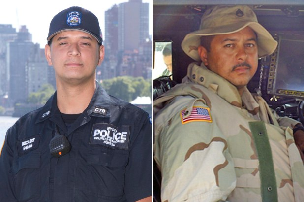 Henry Danny Irizarry and his father, Henry Edison Irizarry, who died in the line of duty in 2004. James Messerschmidt, Handout