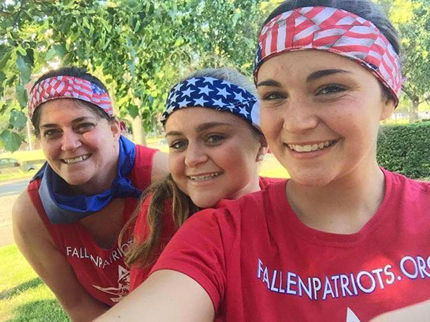 Elizabeth O'Hare, her sister Katie O'Hare and mother Colleen O'Hare, one of the families helped by Children of Fallen Patriots. Photo provided by Children of Fallen Patriots