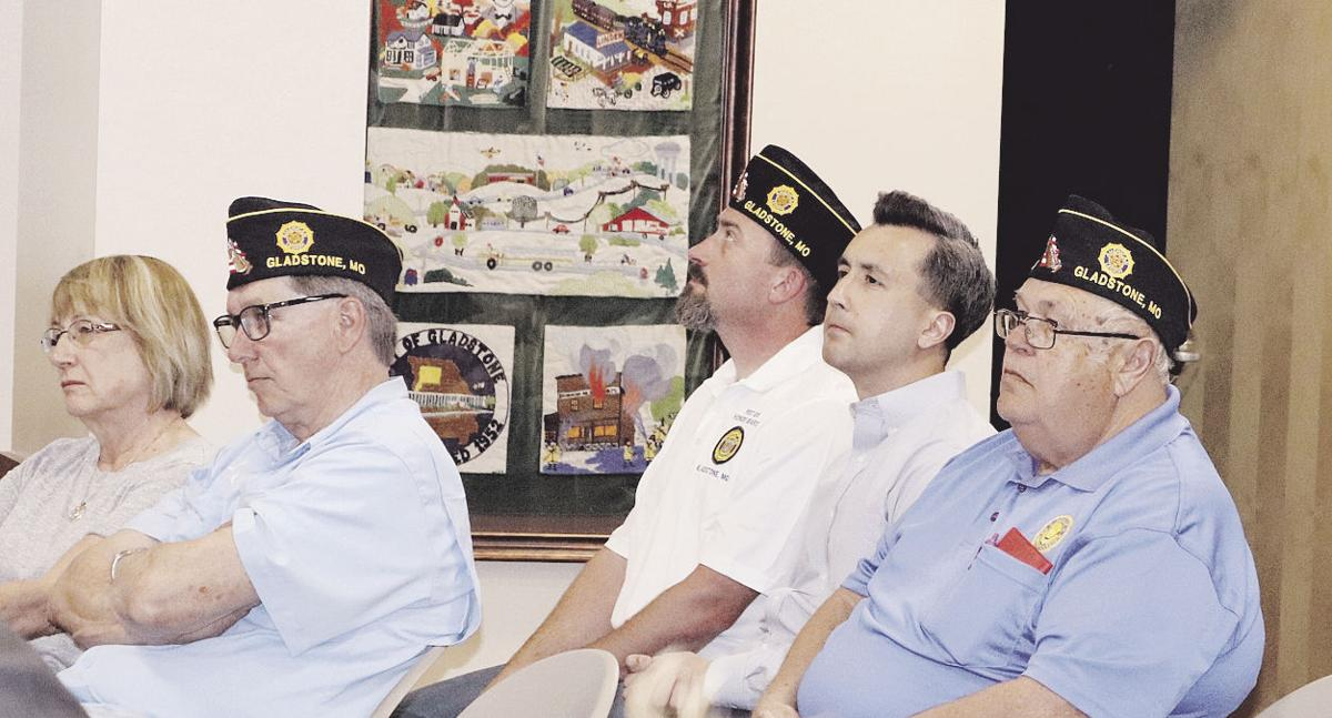 Post Members Kim Murch, David Bowman, Kenneth Jamison and Billy Thompson watch the proceedings. Kellie Houx/Staff Photo