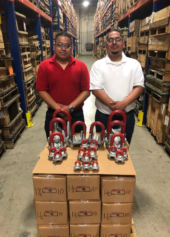 Veterans Aaron (left) and Erick Gomez are supporting the cause from The Crosby Group's Arlington, Texas facility.