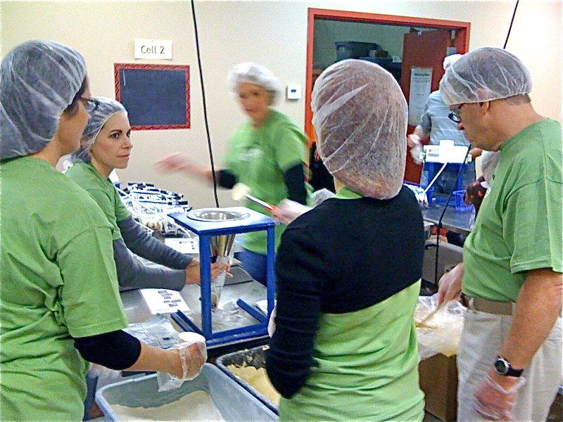 Franke+Fiorella team volunteering with Feed My Starving Children