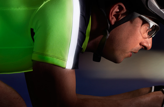 3M employment brand photograph of male bicyclist