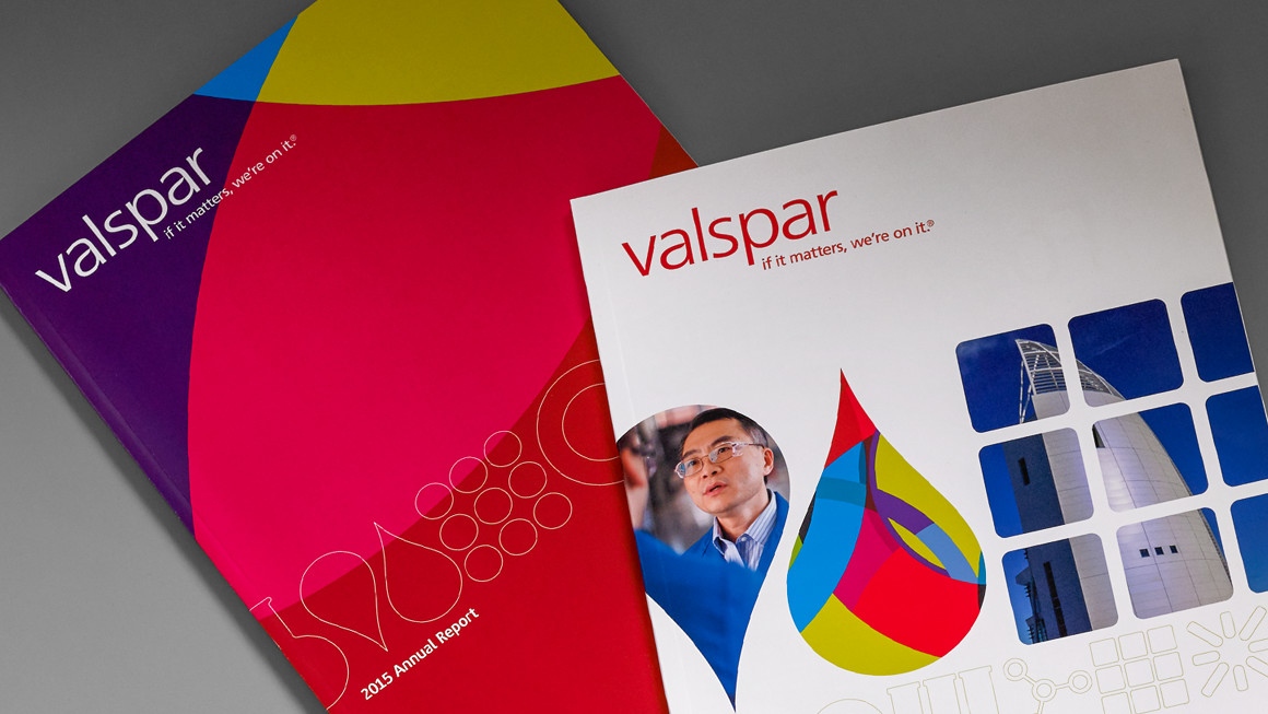 Valspar annual report design - covers