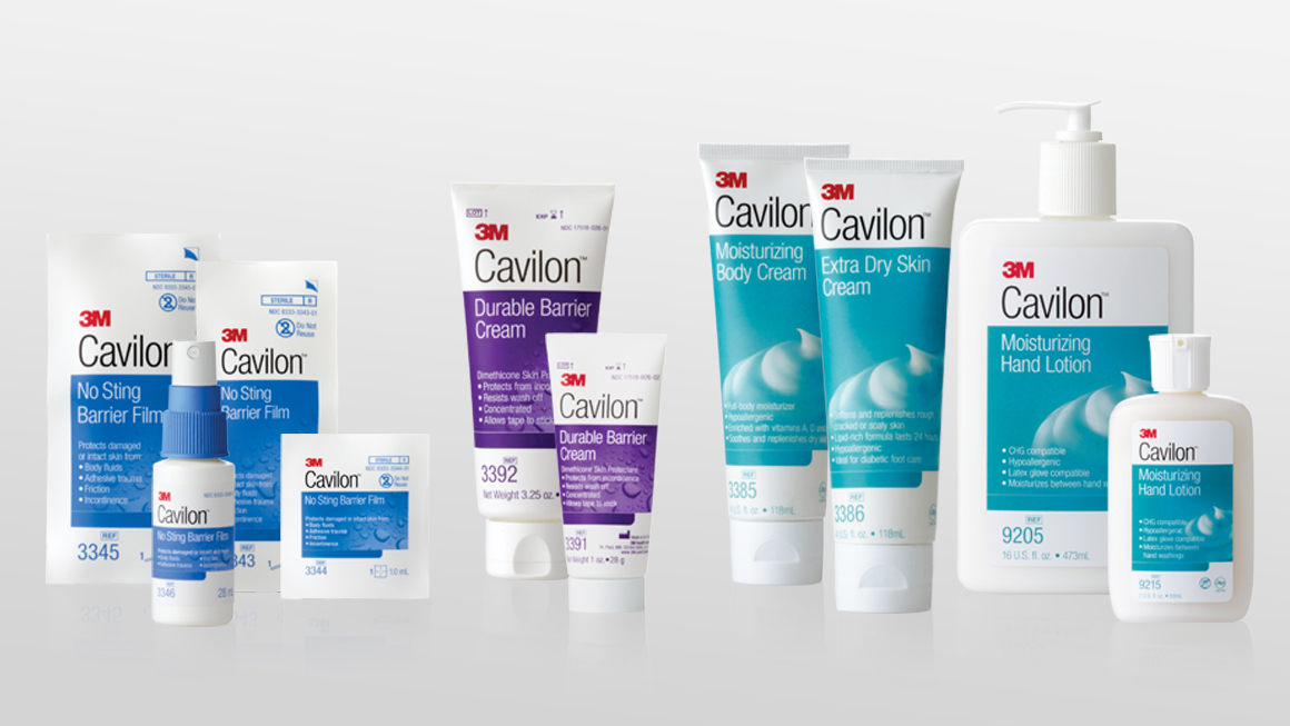 3M™ Cavilon™ professional skin care products package design