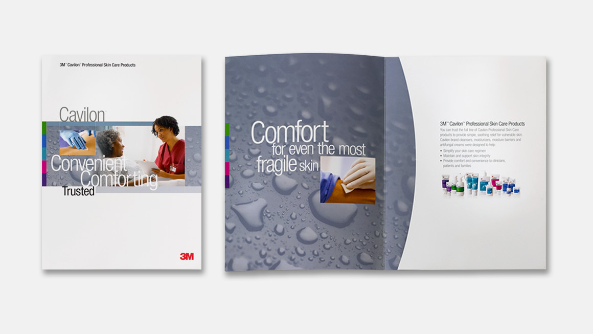 3M™ Cavilon™ family brochure design and folder