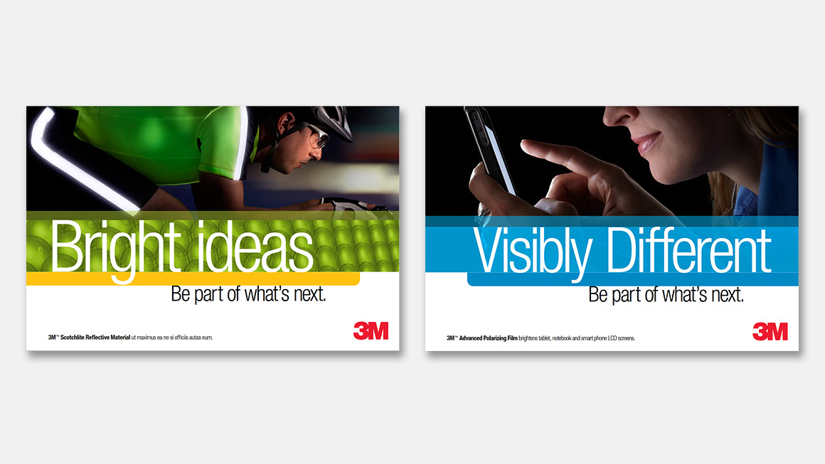 3M employer branding postcard design and messaging