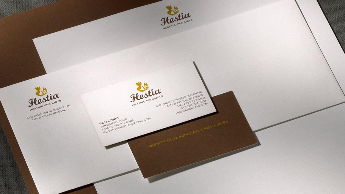 Hestia Heating Products stationery