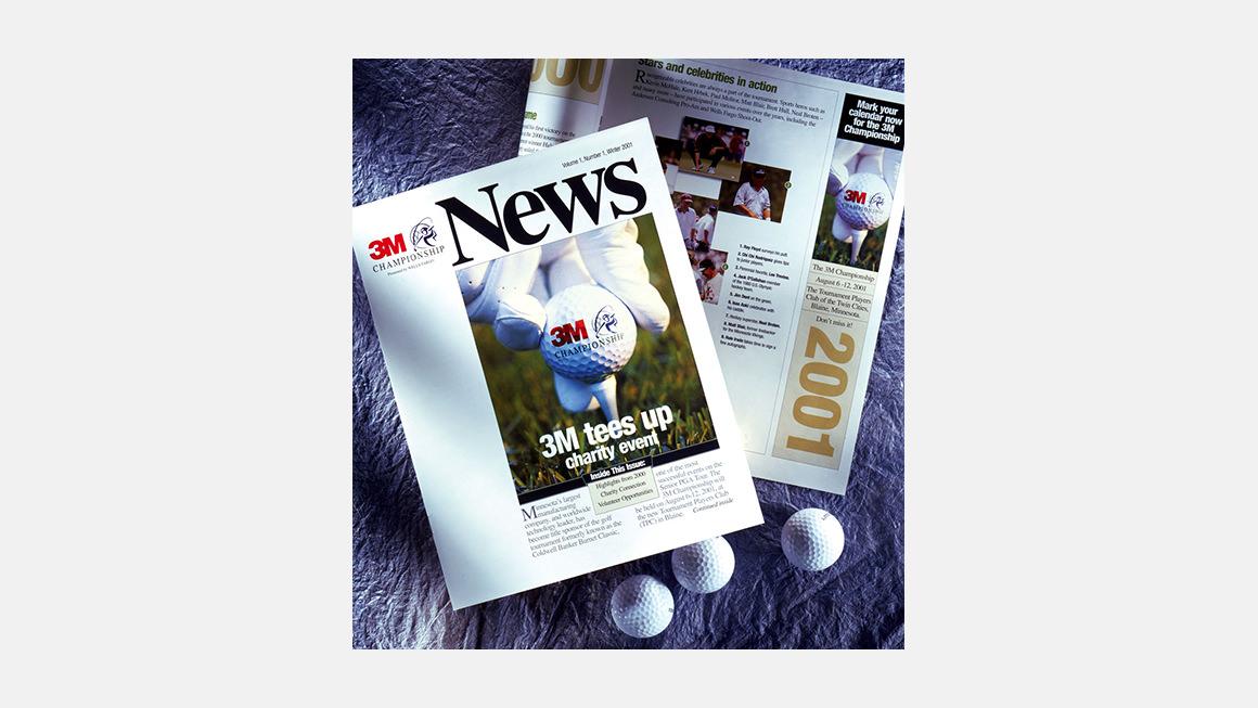 3M Championship Newsletter, ads and golf balls