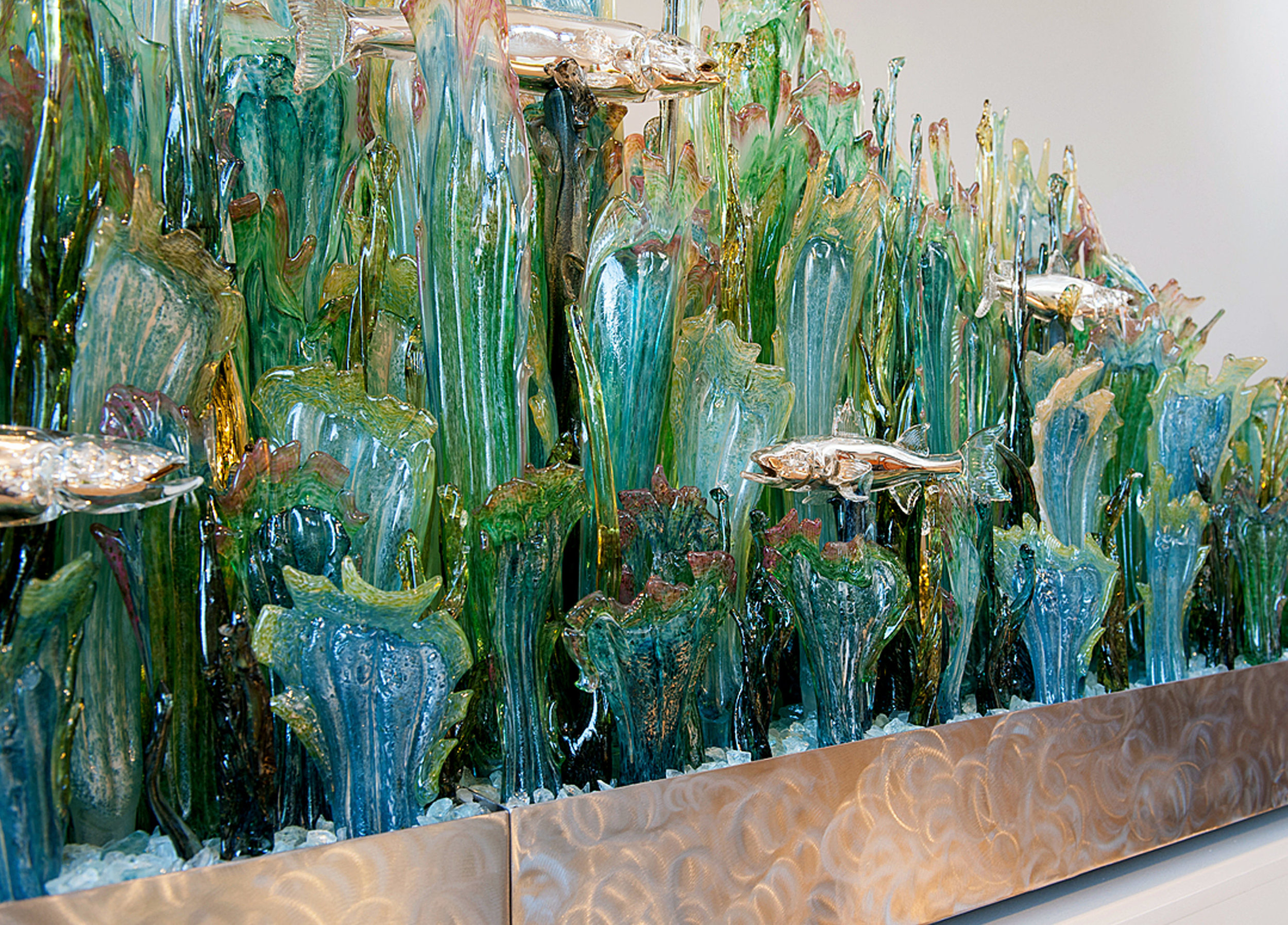 Detail - Kelp Forest with Silver Fish.
