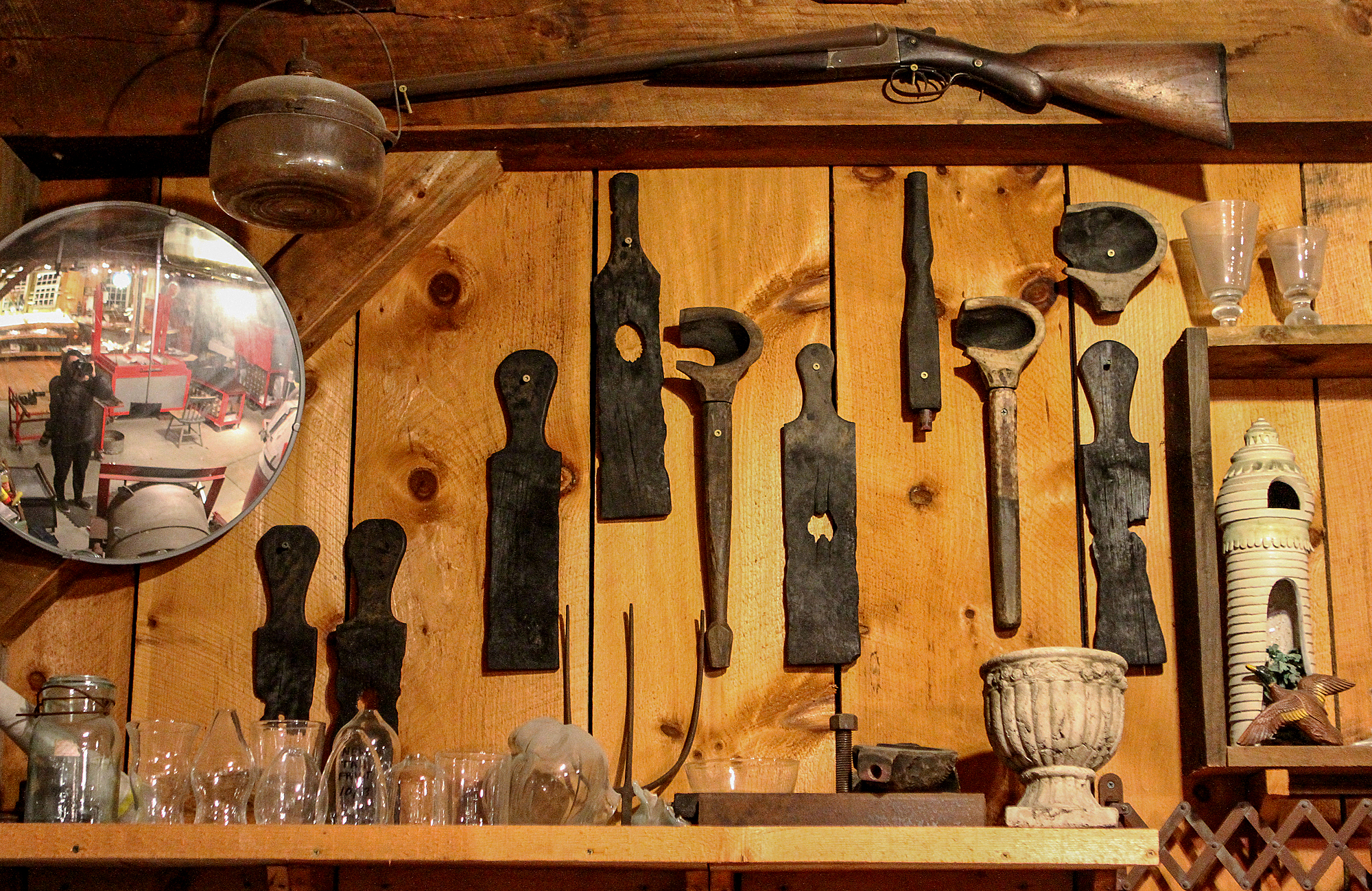 Wooden tools of our past.