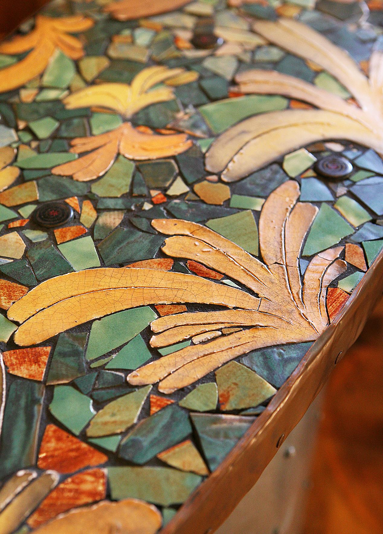 Mosaic counters.
