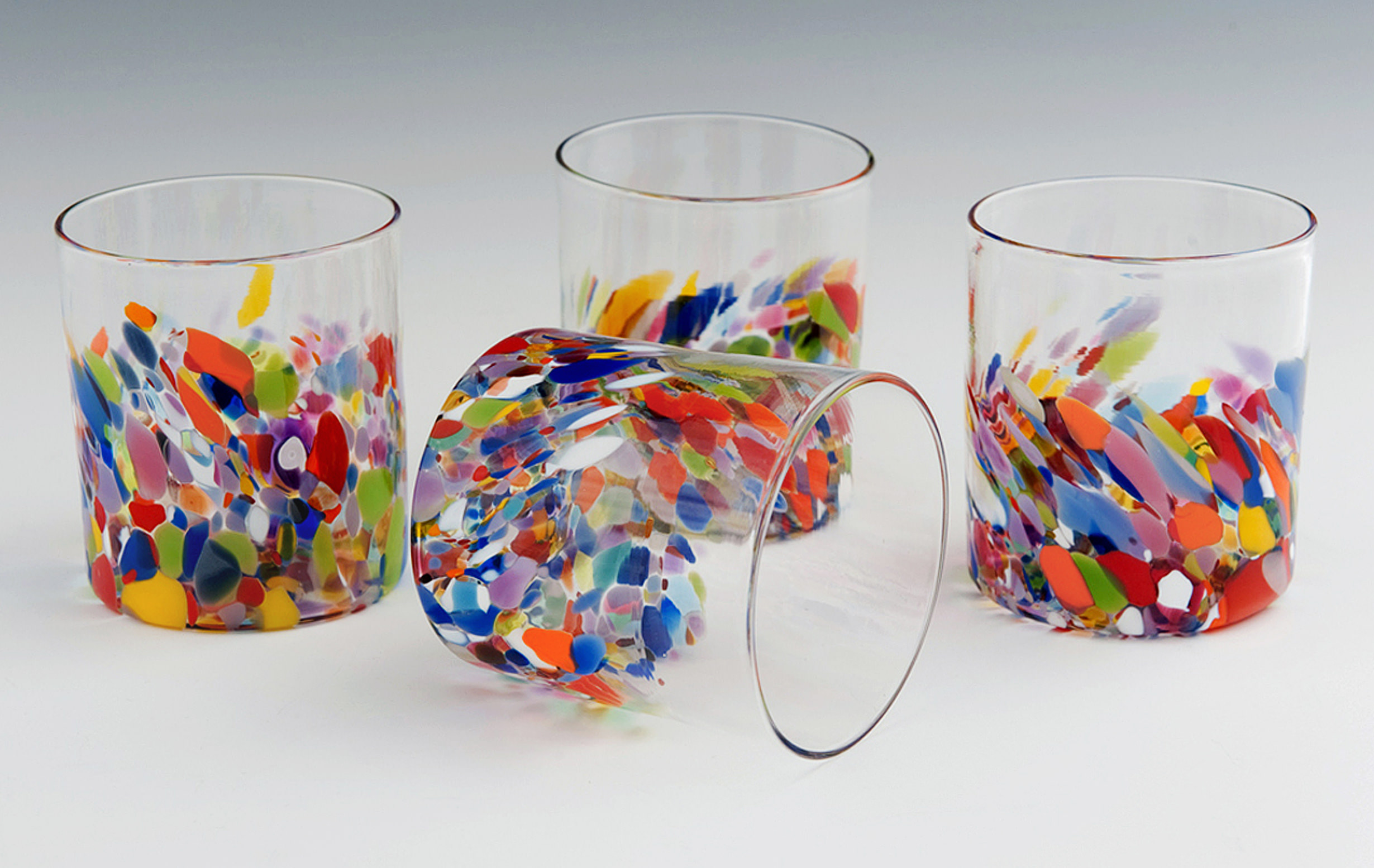 Clown Tumblers seen here in classic Clown Pattern.