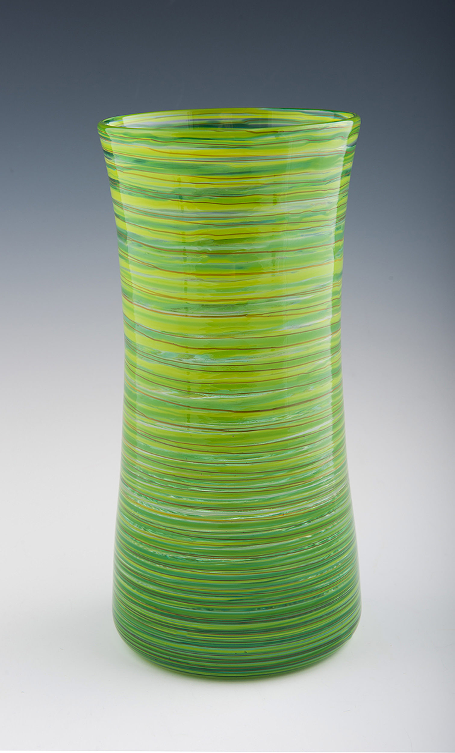 Hoops Vase, seen here in Lime Green.