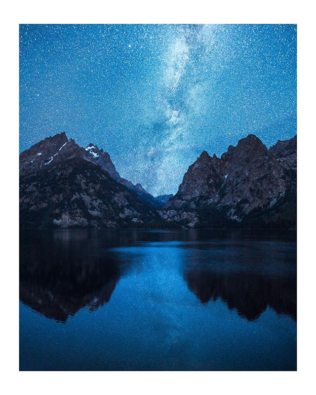The Grand Tetons & Milky Way mirrored in the early morning. There's a reason this place was on my bucket list for so long.