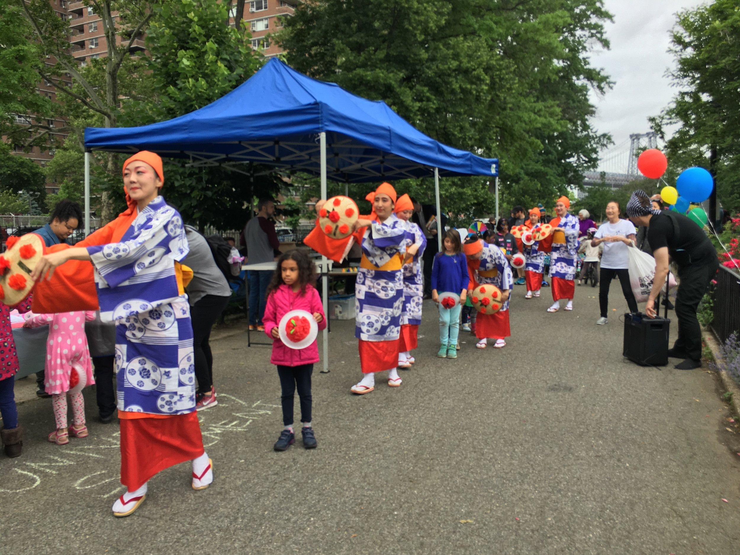 Japanese Folk Dance Institute of New York at Family Fun Day