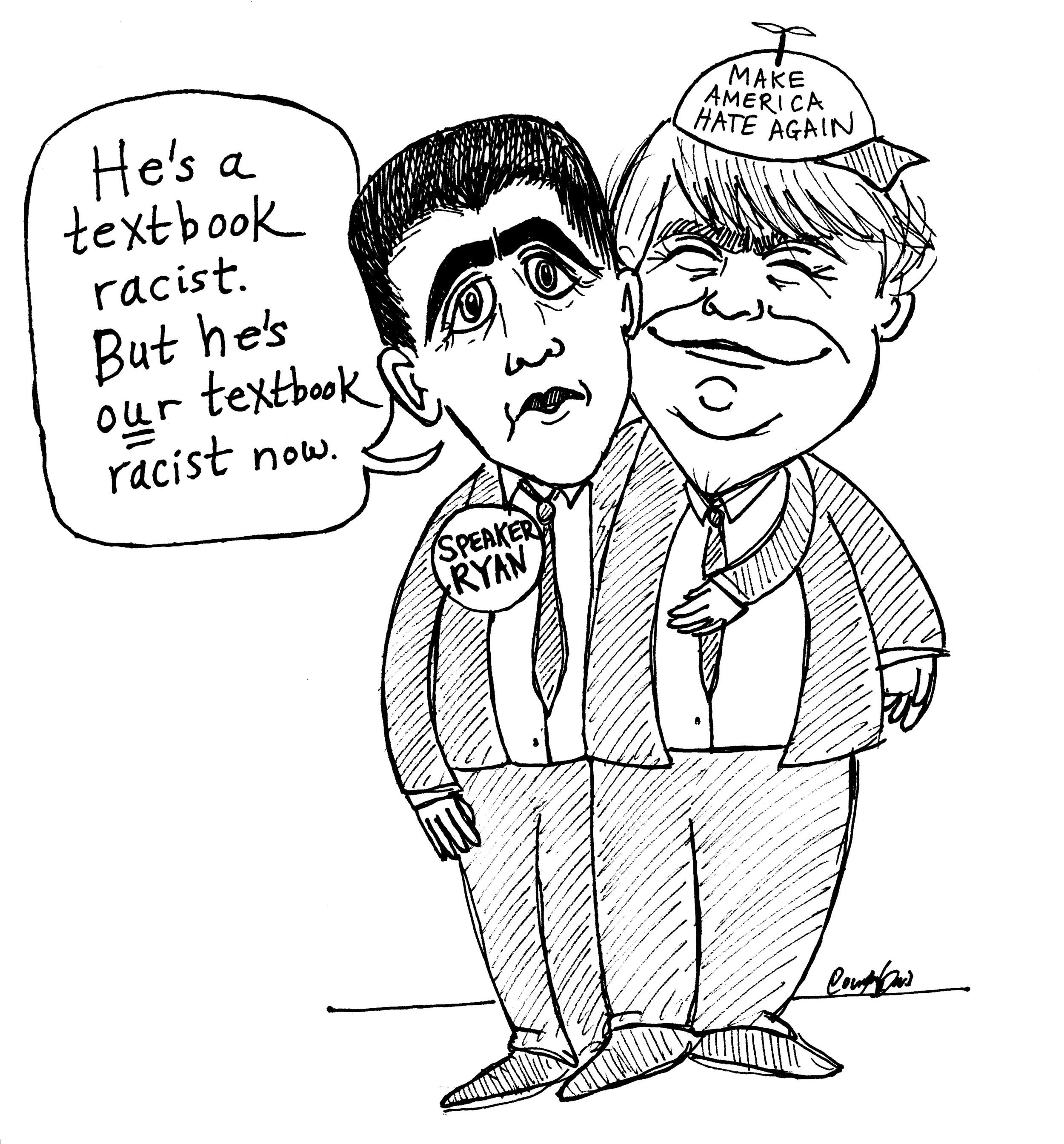 "Speaker Ryan highlights Trump's ""textbook racism""  (2016)"