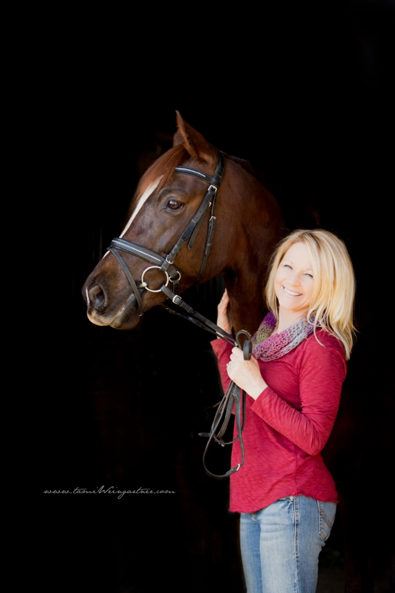 Sweet Annie, a Morgan Dressage Mare, with her rider/owner Debra.