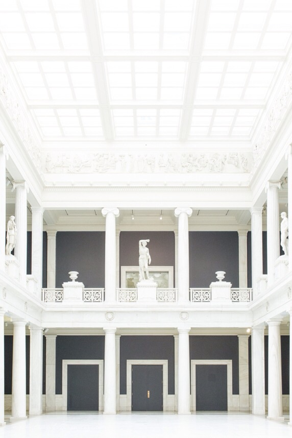 The Hall of Sculpture at Carnegie Museum of Art.  A natural light photographers dream come true.  I got wonderful inspiration from this visit….