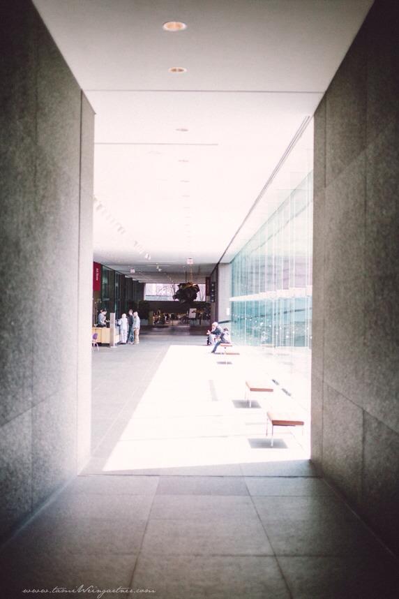 From dark to light. My favorite corridor. Carnegie Museum of Art, Pittsburgh, PA.