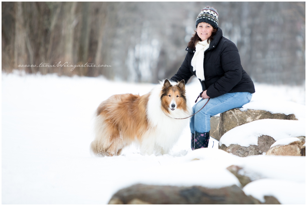 Caleb the Collie, who came from a local Shelter, with his lovely guardian Jenn.