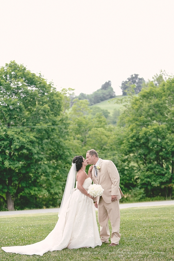 Bride and Groom photographed in the Laurel Highlands