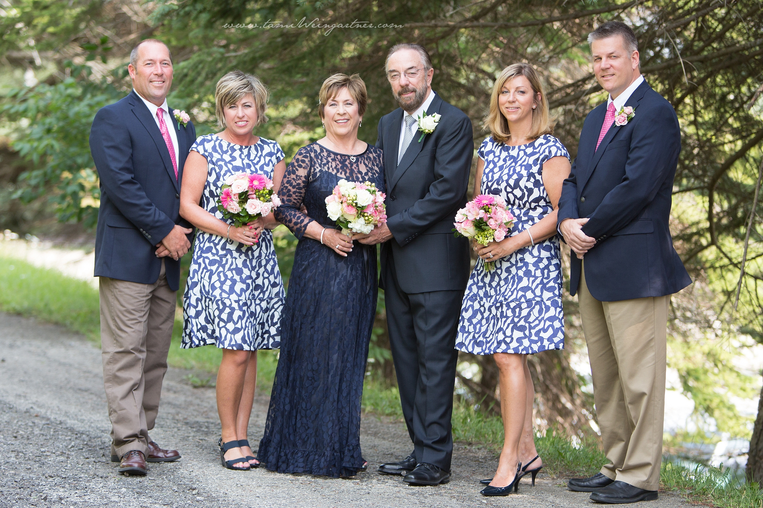 Elegant 2nd wedding with navy blue dress
