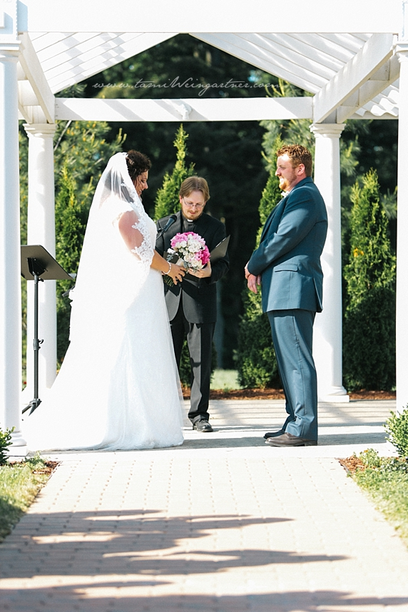 Pauline Pergola at Harding Park in Hubbard OH Wedding
