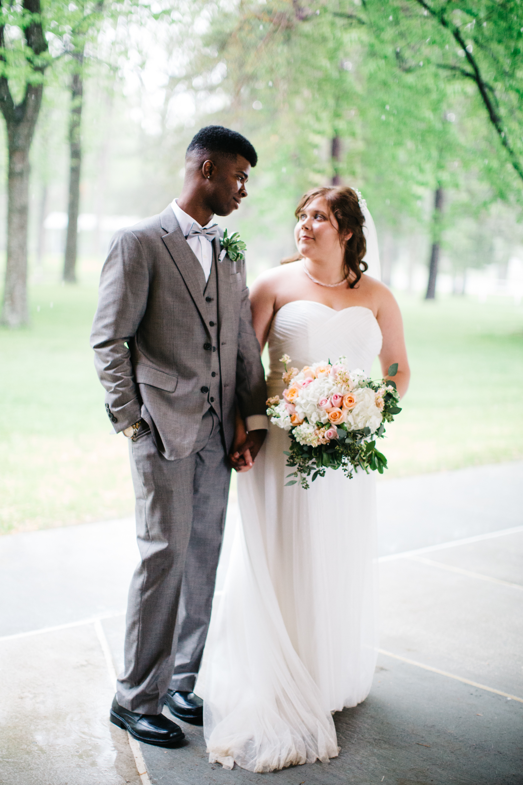 Rainy Day Intimate Wedding Photos