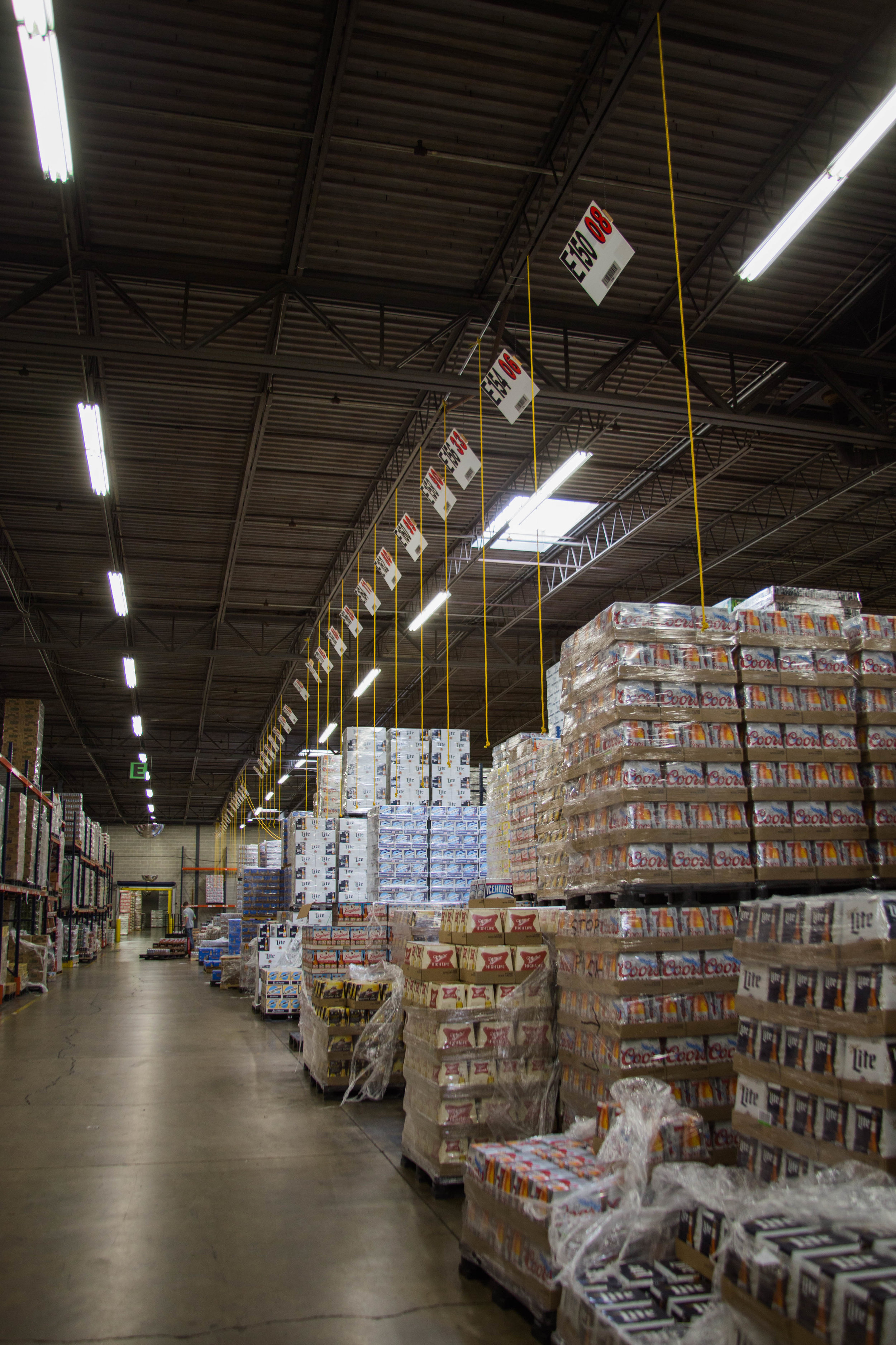 Town & Country Warehouse Beer Stacks