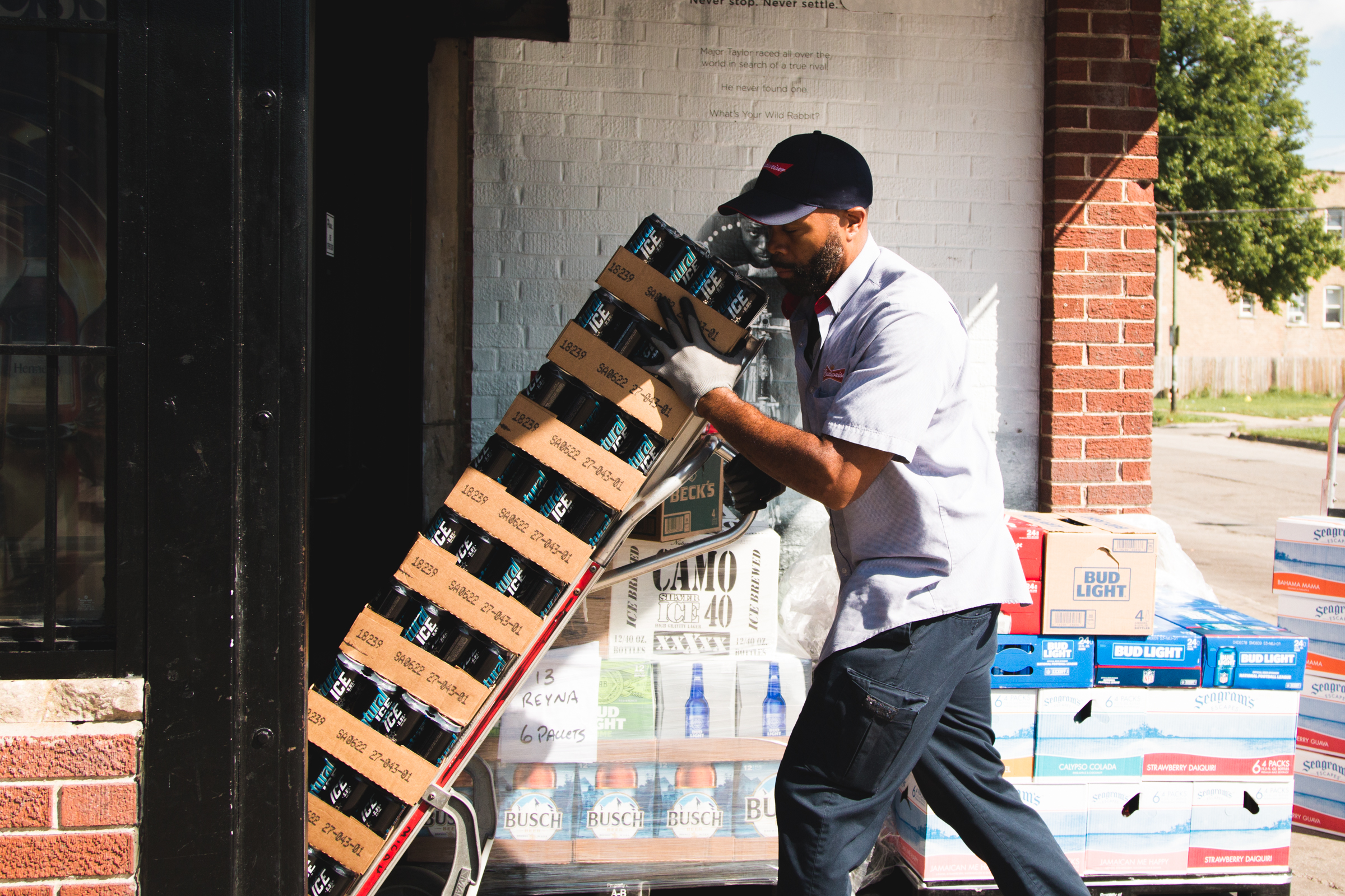 Lakeshore Beverage delivery stacks