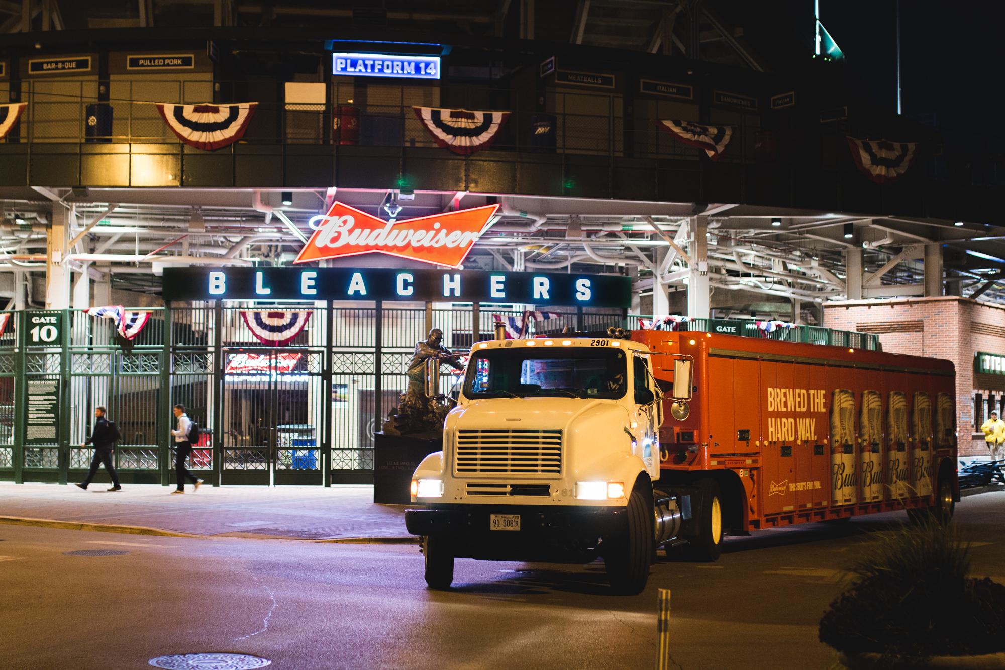 Lakeshore Beverage delivery truck stadium
