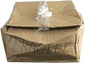 crushed box.