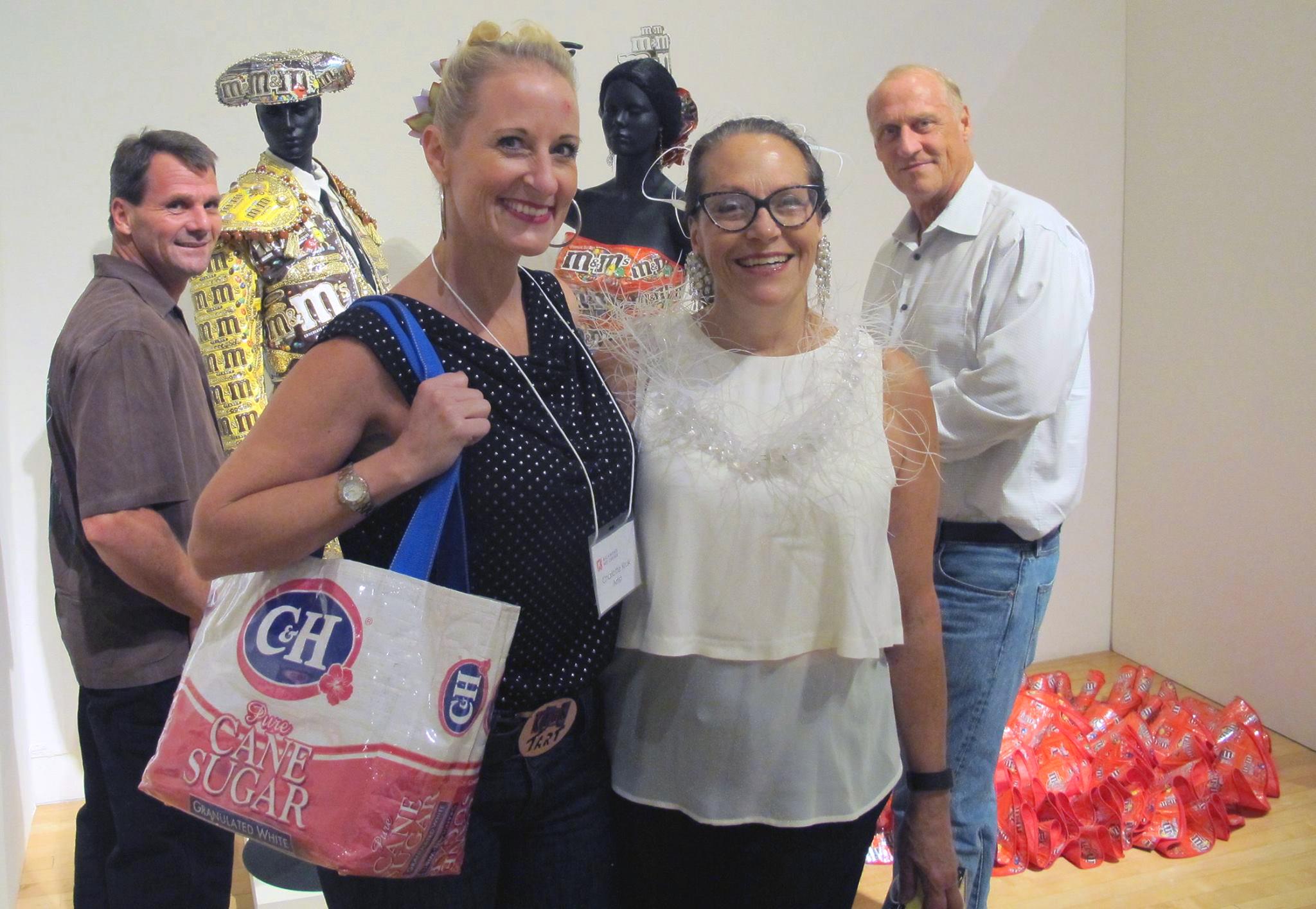 Charlotte Kruk (left) & Harriete Estel Berman at Richomond Art Center opening.
