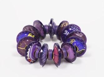 Berman-Harriete Identity Bead Bracelet - Purple