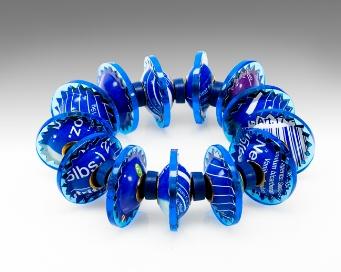 Berman-Harriete Identity Bead Bracelet - Blue 13 Beads