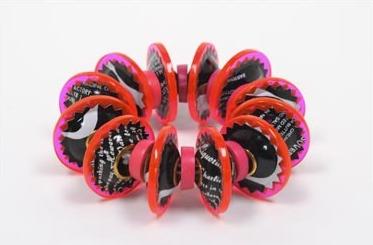 Berman-Harriete-Identity Bead Bracelet - Pink and Black