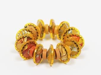 Berman-Harriete-Identity Bead Bracelet - Yellow Altoids