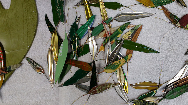Close-up of the Eucalyptus Leaves. They are really beautiful. Buy a Eucalyptus Leaf brooch to support this artwork.