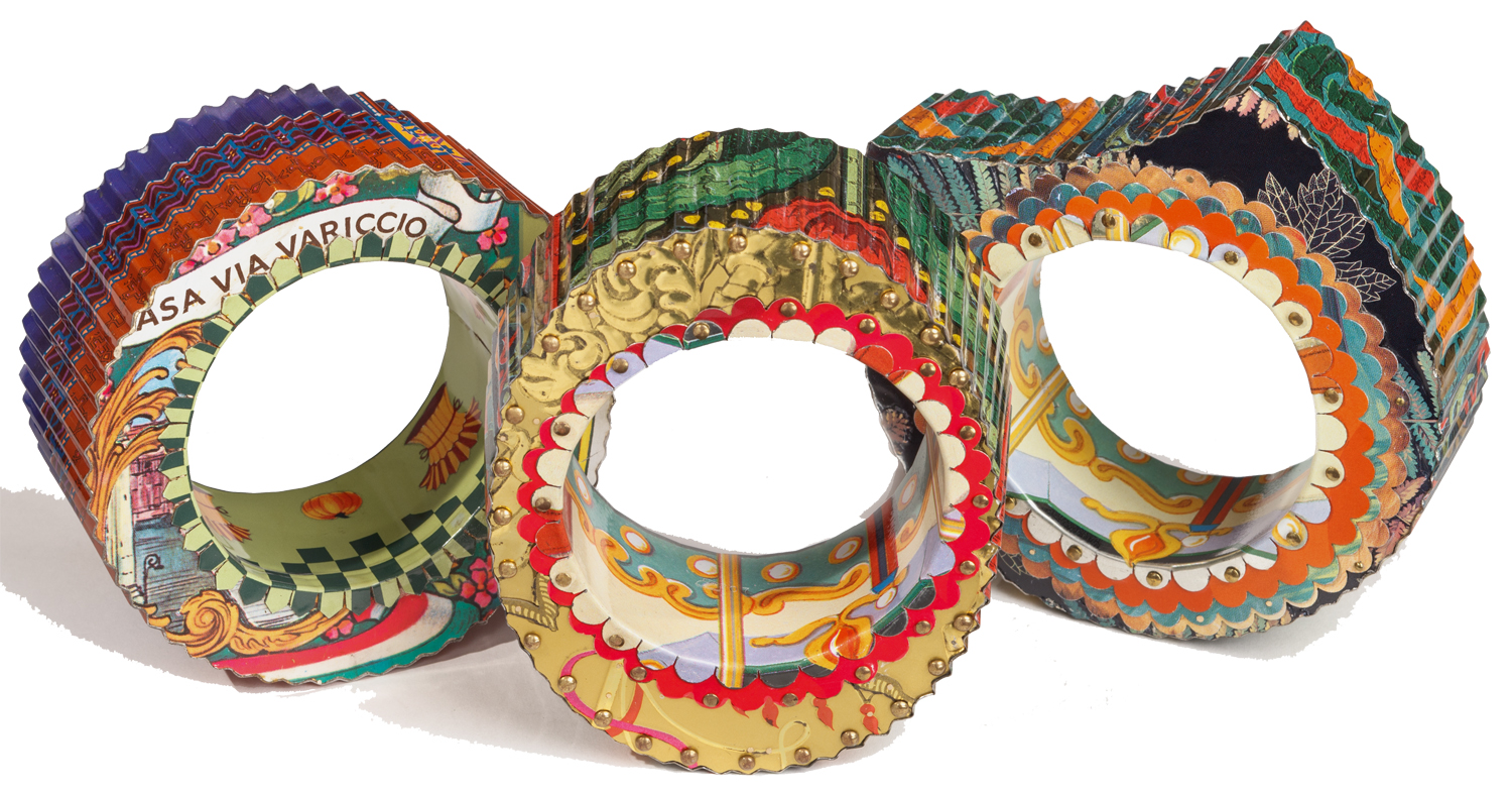 recycled materials post consumer tin cans jewelry