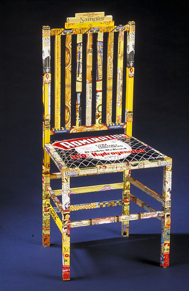 Material Identity Chair from recycled tin cans.j