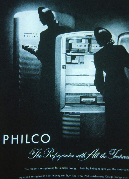 Vintage ad from the 1950's for a PHILCO Refrigerator