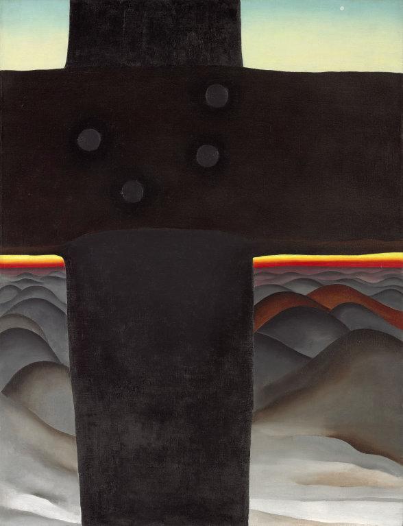 Georgia O'Keefe black cross painting