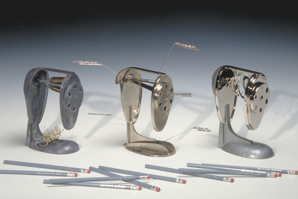Critic's Choice a series of pencil sharpeners as a criticism of art criticism