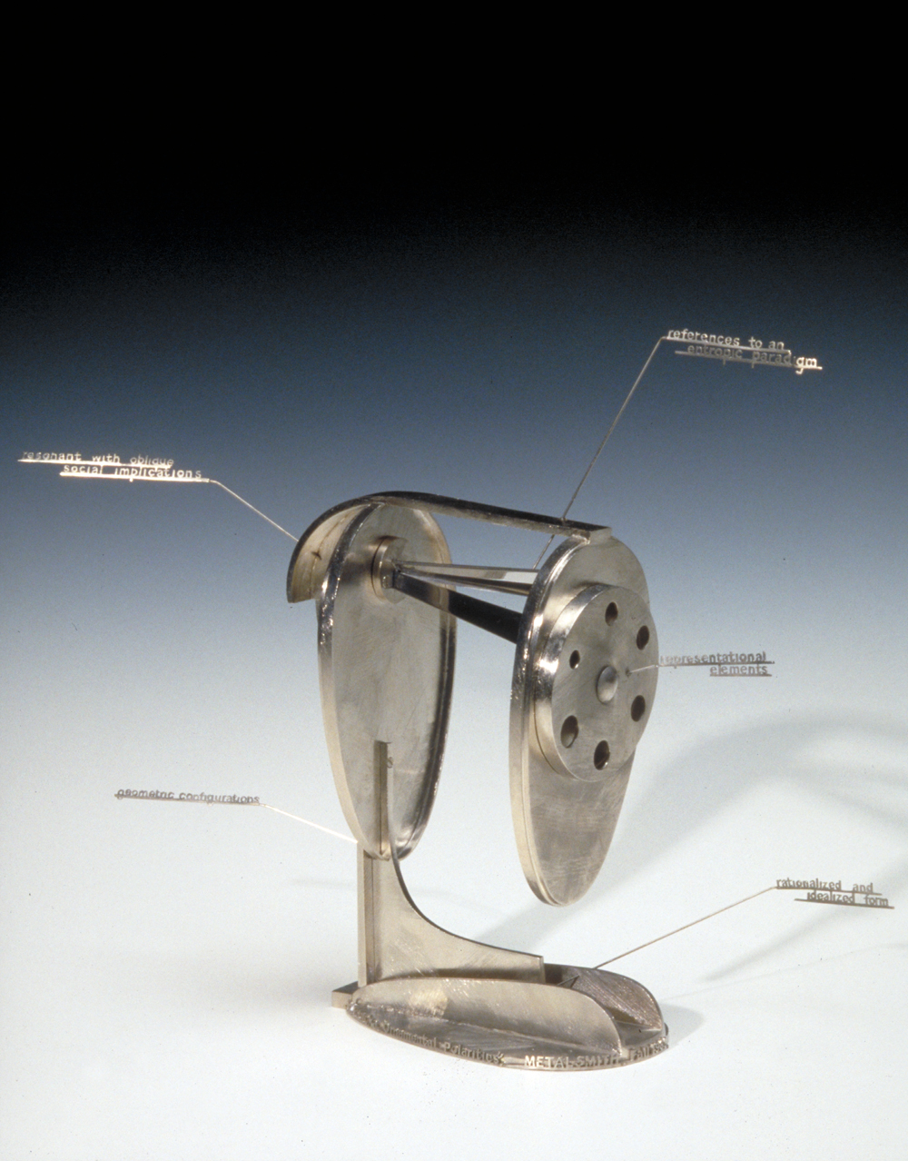 Didactic pencil sharpener sculpture about art criticism