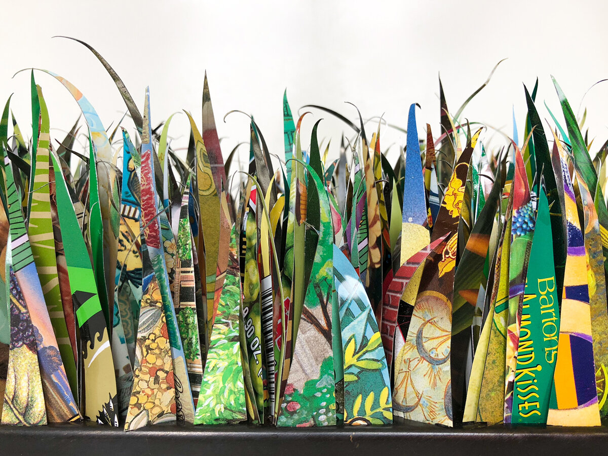 A Yard of Grass II -  a  commentary about the social and environmental impact of lawn constructed from recycled materials