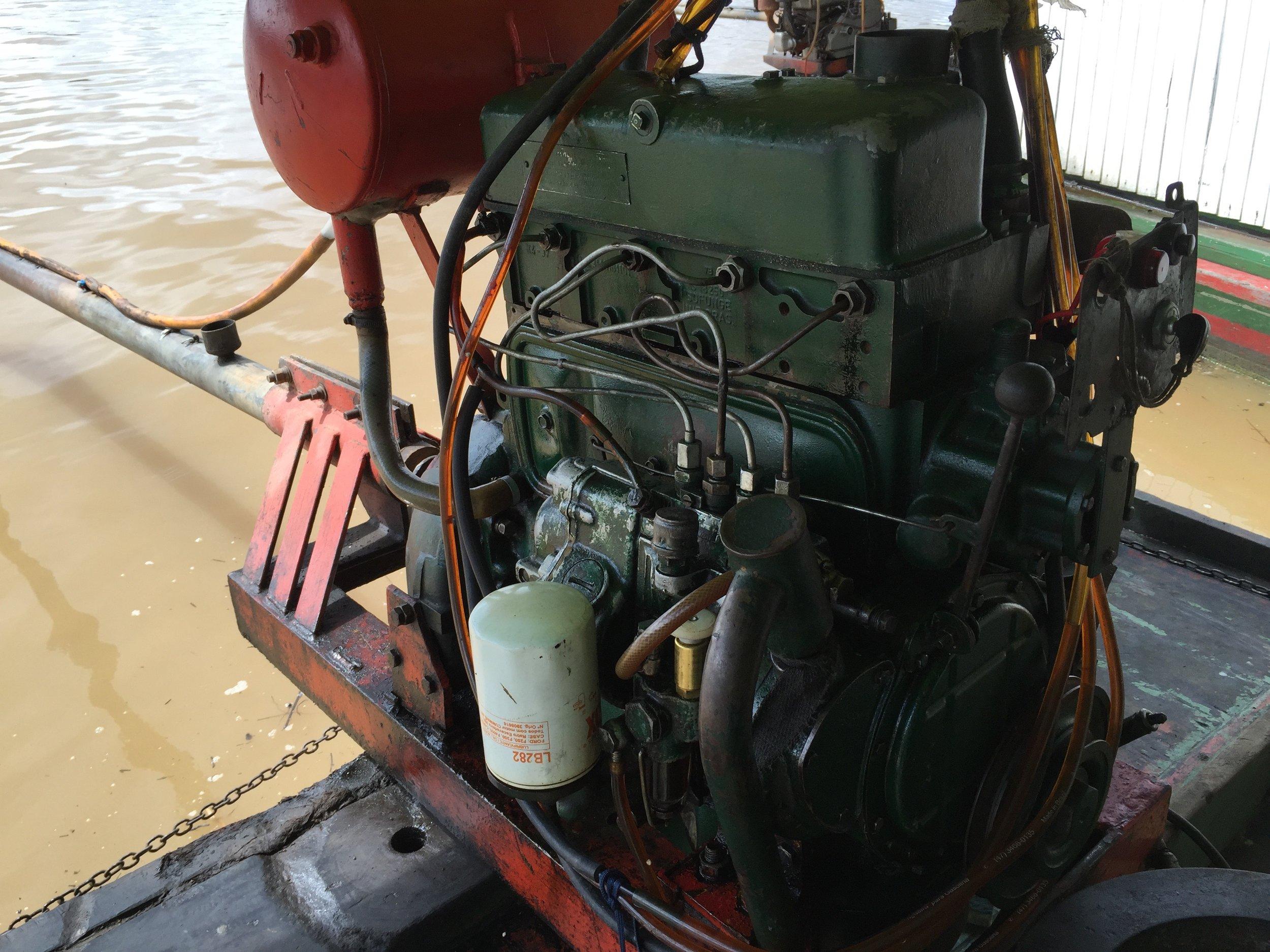old houseboat motor